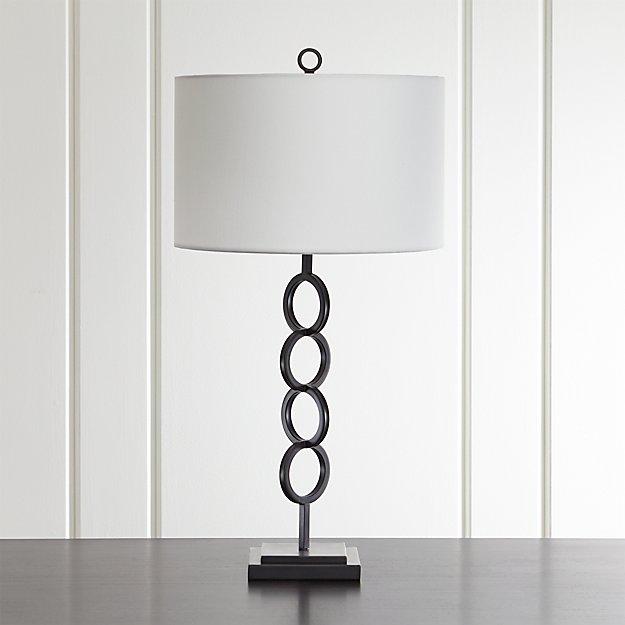 Axiom Black Table Lamp - Image 1 of 6
