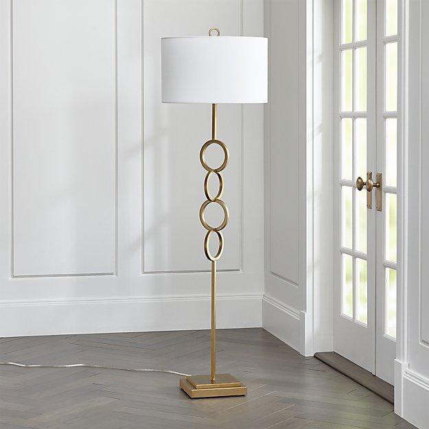 Axiom Brass Floor Lamp
