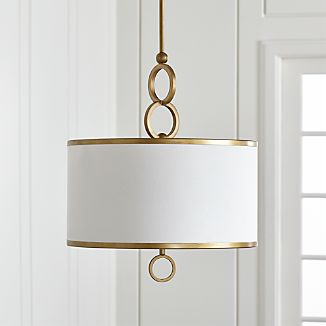 Axiom 18 Brass Drum Pendant Light