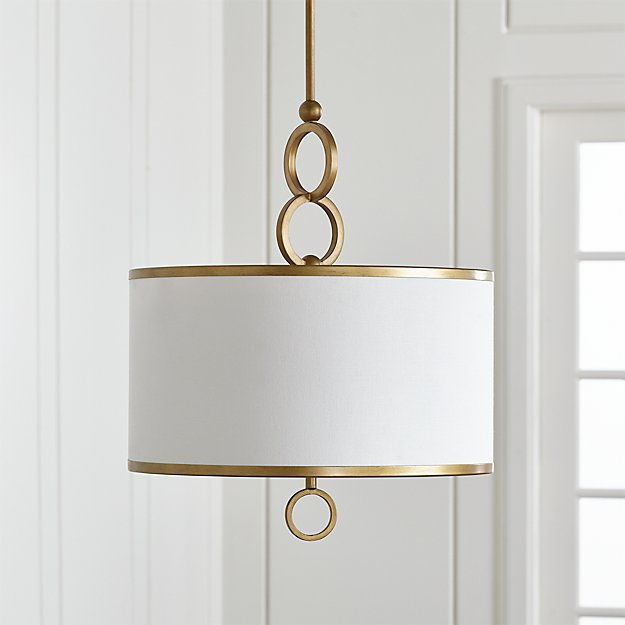 Axiom 18 Quot Brass Drum Pendant Light Reviews Crate And