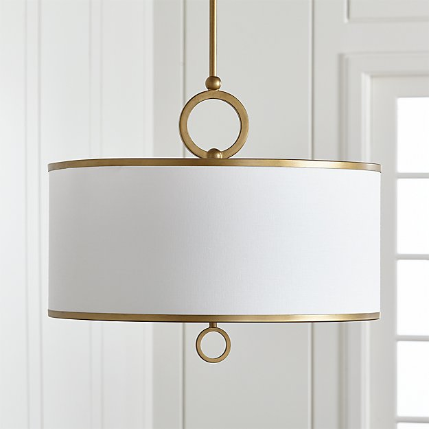 Axiom 24 Quot Brass Drum Pendant Reviews Crate And Barrel