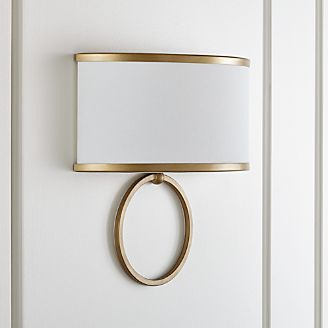 axiom brass sconce