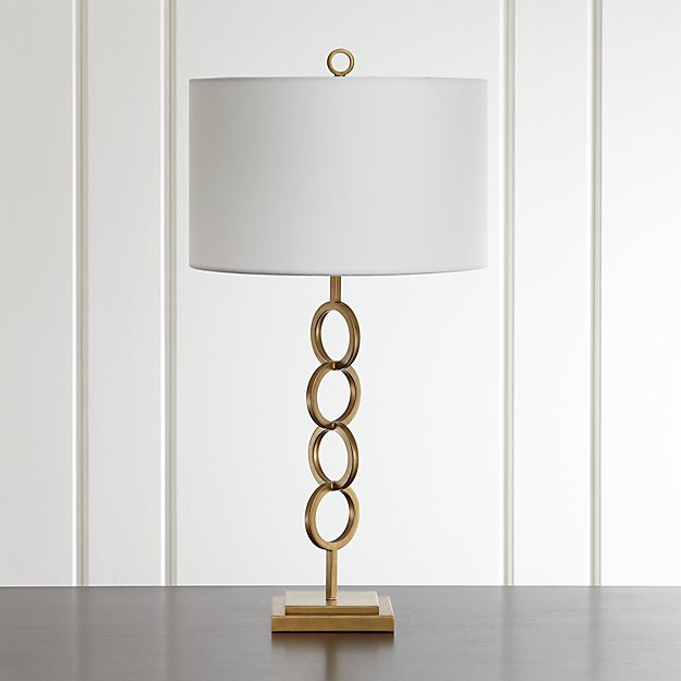 Axiom brass geometric table lamp reviews crate and barrel