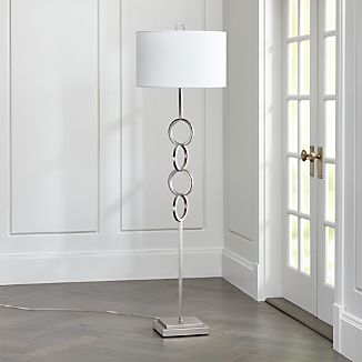 Axiom Brushed Silver Floor Lamp