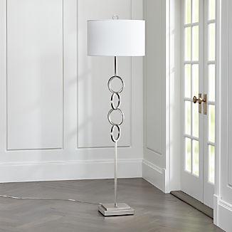 Axiom Brushed Silver Floor Lamp