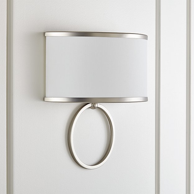 Axiom Brushed Silver Sconce - Image 1 of 4
