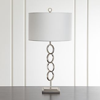 Axiom Brushed Silver Table Lamp