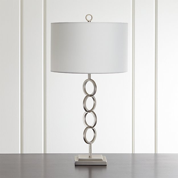 Axiom Brushed Silver Table Lamp - Image 1 of 6