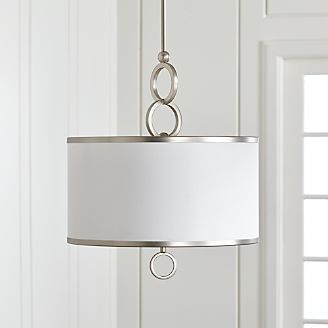 Drum pendant lighting fixtures Simple Hanging Light Axiom 18 Crate And Barrel Pendant Lighting And Chandeliers Crate And Barrel