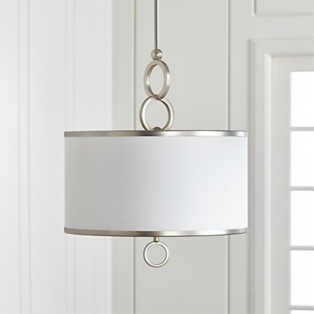 Axiom 24 Silver Drum Pendant Reviews Crate And Barrel