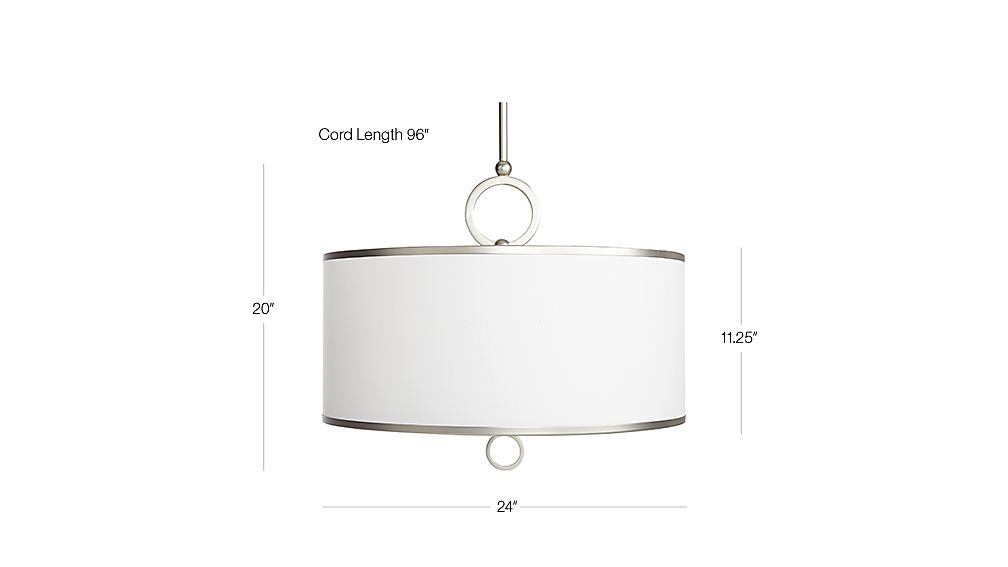 Axiom 24 Quot Brushed Silver Pendant Reviews Crate And Barrel