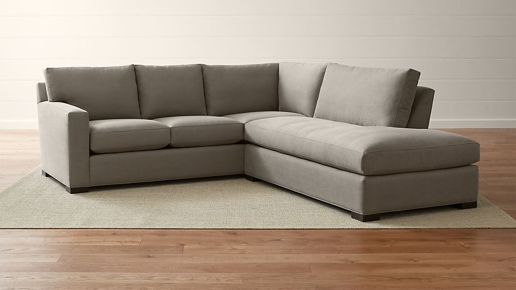Axis ii 2 piece right bumper sectional sofa douglas for Axis ii 2 piece sectional sofa