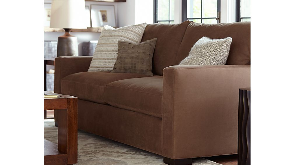 Axis II 2Seat Brown Sleeper Sofa Crate and Barrel