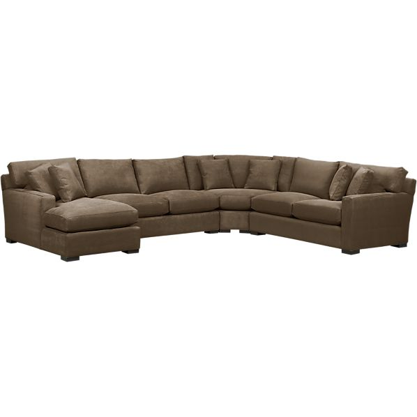 Axis 4-Piece Left Arm Chaise Wedge Sectional