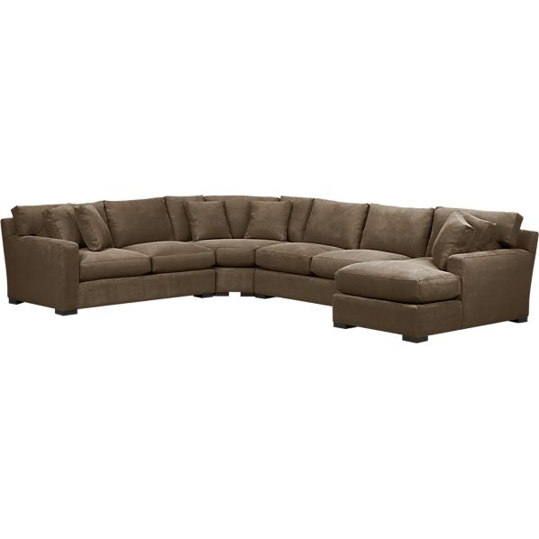 Axis 4-Piece Right Arm Chaise Wedge Sectional