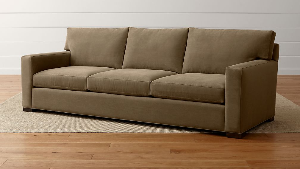 Axis II Grande Large Brown Sofa Crate And Barrel - Love seat and sofa