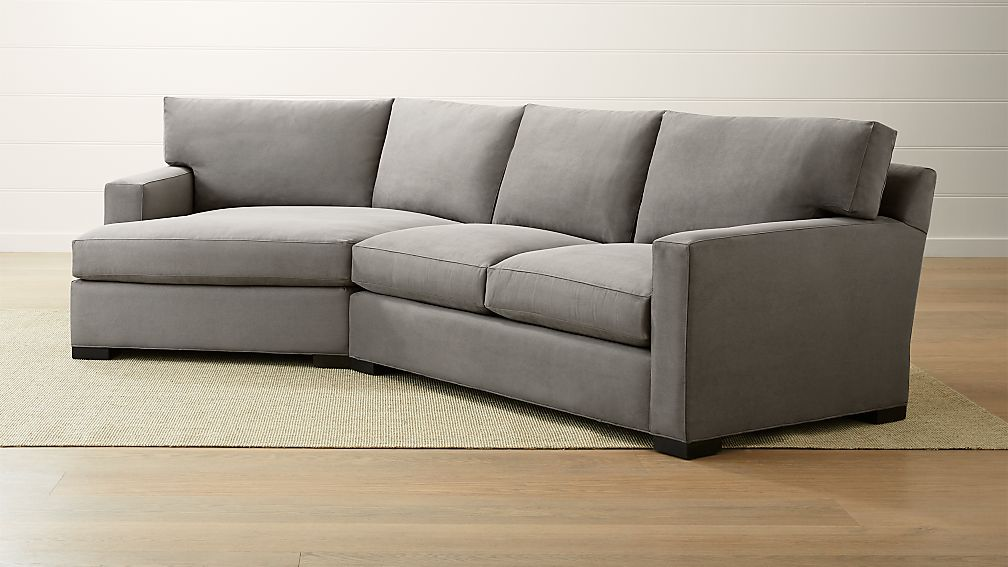 Axis Ii 2 Piece Left Arm Angled Chaise Sectional Sofa Crate And