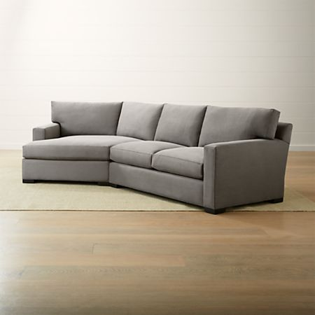 Left Arm Angled Chaise Sectional Sofa