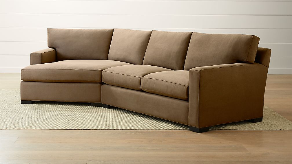 Axis II 2 Piece Left Arm Angled Chaise Sectional Sofa ...