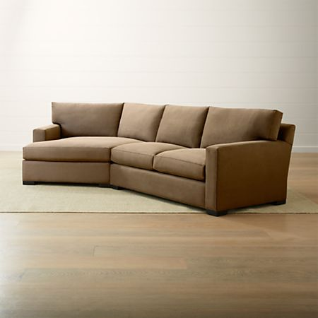 Left Arm Angled Chaise Sectional