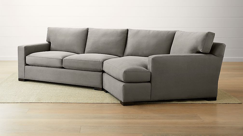 Axis ii 2 piece right arm angled chaise sectional sofa for Axis ii 2 piece sectional sofa
