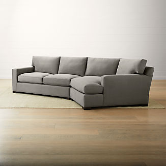 Axis II 2-Piece Right Arm Angled Chaise Sectional Sofa