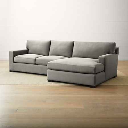 Axis II 2-Piece Right Arm Double Chaise Sectional Sofa | Crate and Barrel