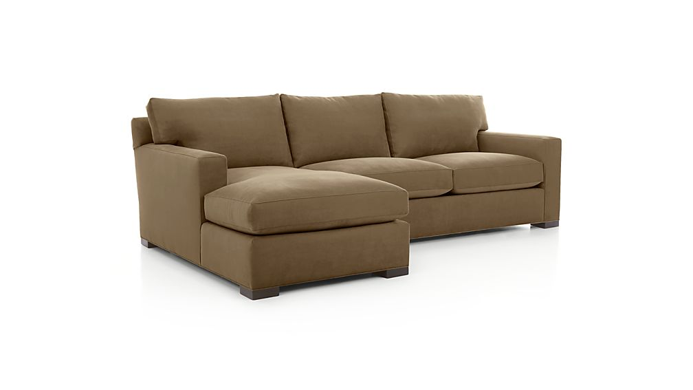 ... Axis II 2-Piece Sectional Sofa ...  sc 1 st  Crate and Barrel : sectional couch with chaise - Sectionals, Sofas & Couches