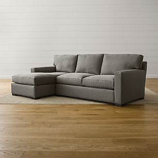 Small Scale Sectional Sofas Crate and Barrel