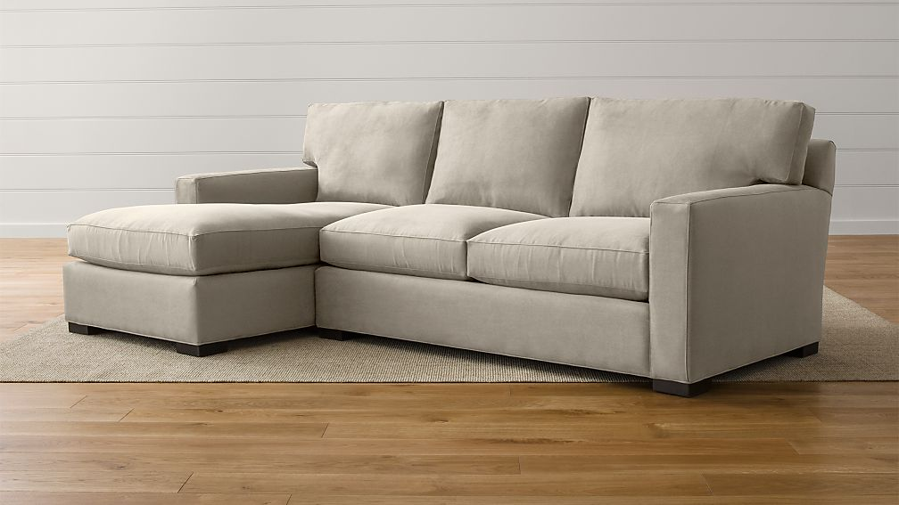 Axis II Grey Fabric Sectional Sofa + Reviews | Crate and Barrel