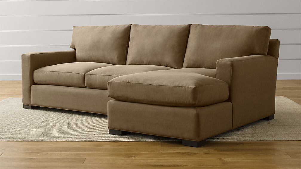 Axis Ii Brown 2 Piece Sectional Reviews Crate And Barrel