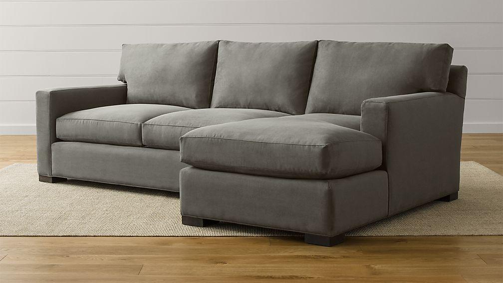 Axis Ii Charcoal Sectional Sofa Crate And Barrel