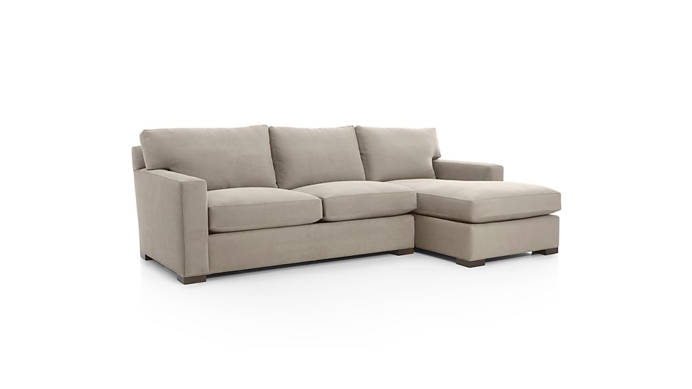 Axis II Grey Sectional with Chaise Crate and Barrel