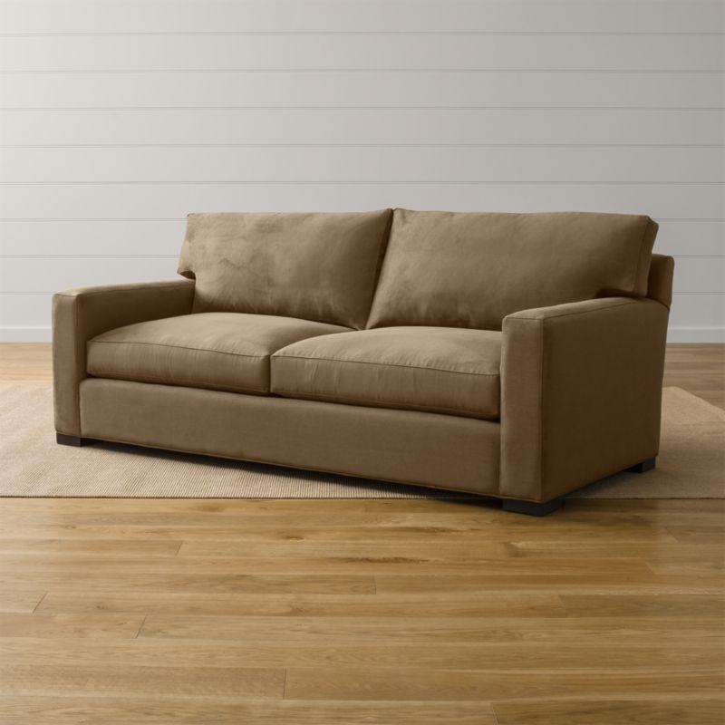 Axis II 2Seater Brown Microfiber Sofa Reviews Crate and Barrel