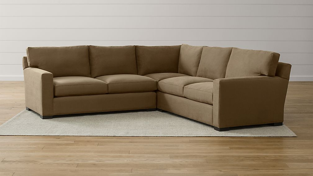 Axis II 3-Piece Sectional Couch + Reviews   Crate and Barrel