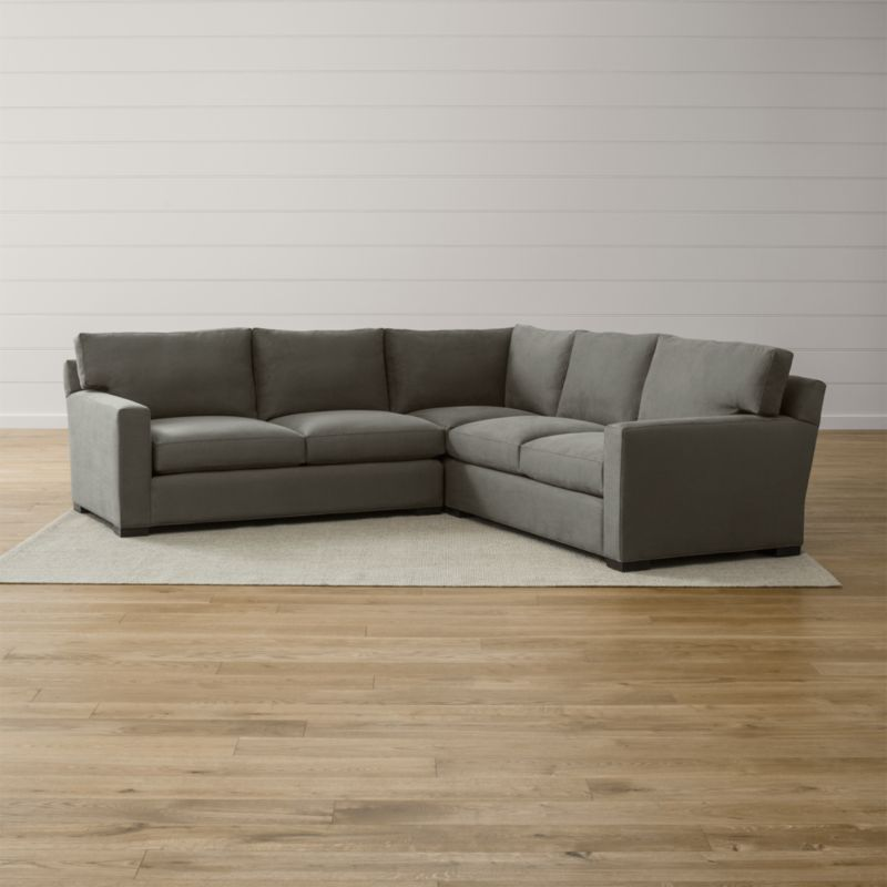 Axis II 3Piece Sectional Sofa Crate and Barrel