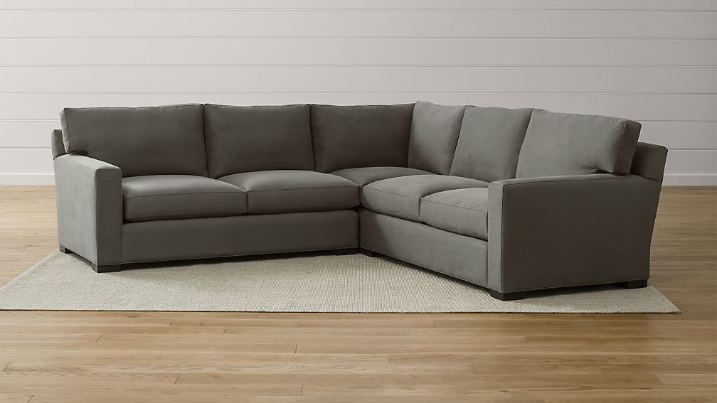 Axis II 3Piece Grey Sectional Crate and Barrel