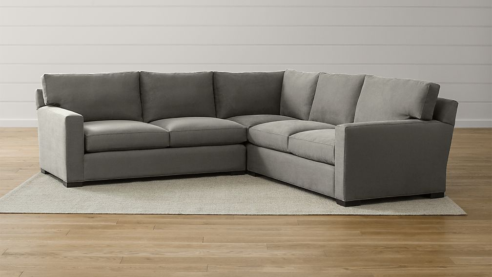 Axis Ii 3 Piece Sectional Sofa Reviews Crate And Barrel