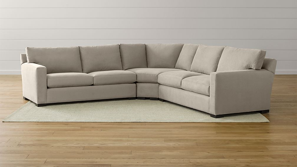 Axis Ii Low Back Sectional Sofa Reviews Crate And Barrel