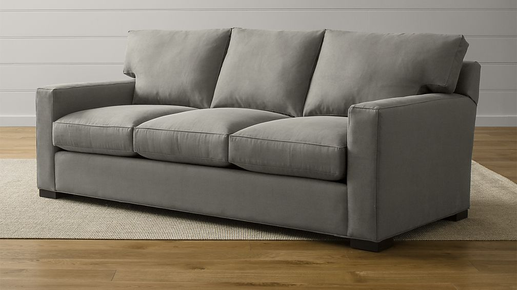 Axis II Brown 3-Seat Sofa + Reviews   Crate and Barrel