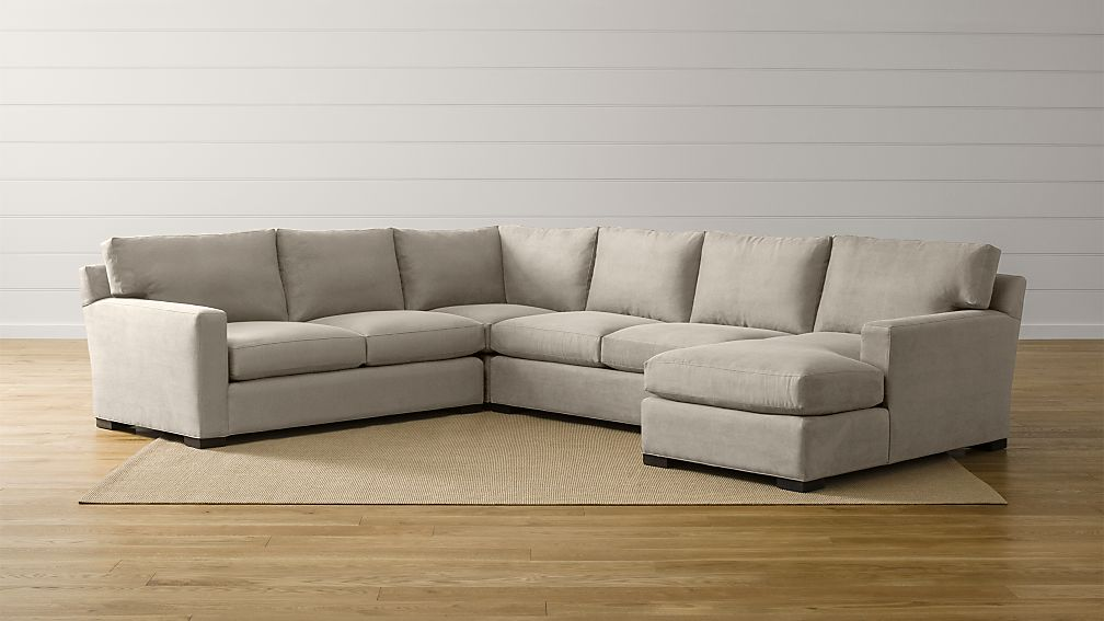 Axis II 4-Piece Sectional Sofa + Reviews | Crate and Barrel