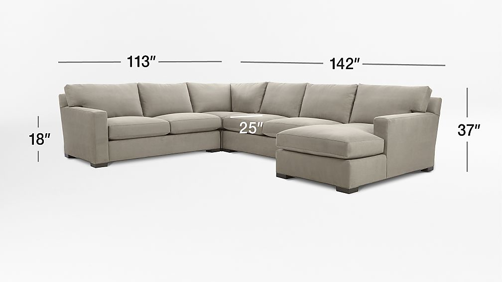 Axis Ii 4 Piece Sectional Sofa In Axis Sectional Pieces