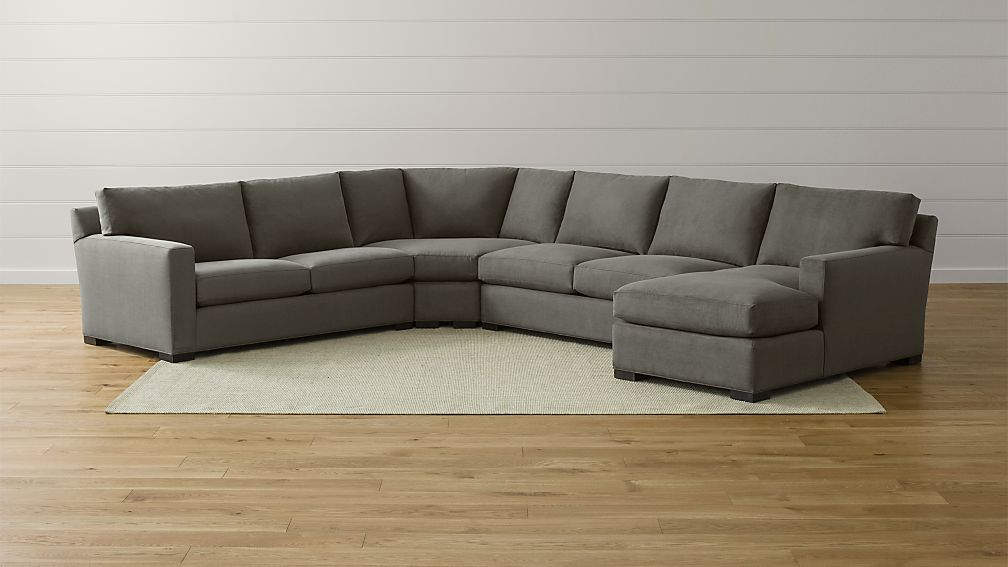 Axis Ii Grey Corner Sectional Reviews Crate And Barrel