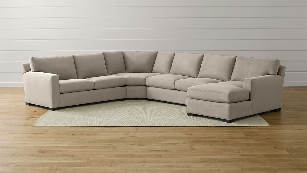 Axis II Large Grey Sectional Couch + Reviews   Crate and Barrel