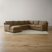 Sensational Fabric Sectional Sofas Crate And Barrel Inzonedesignstudio Interior Chair Design Inzonedesignstudiocom