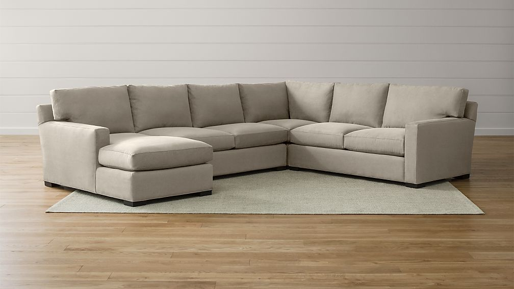 Lounge ii petite 2 piece sectional sofa crate and barrel