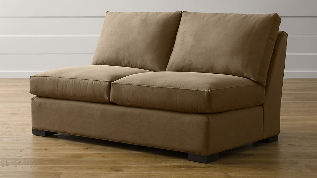 Axis II Armless Sectional Loveseat + Reviews | Crate and Barrel