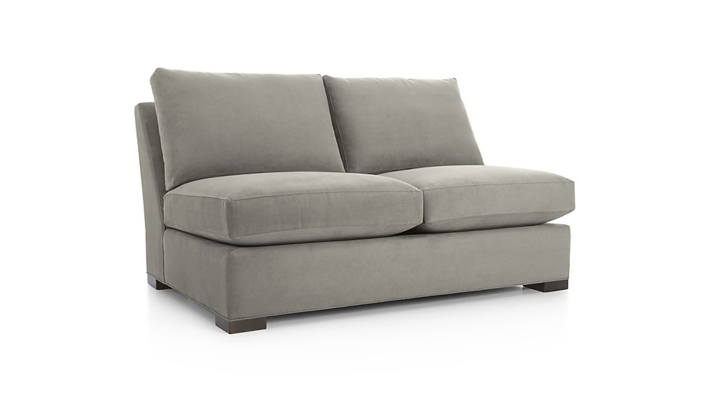 Sectional loveseat sofa larkinhurst earth 2 pc laf for Crate and barrel armless chair