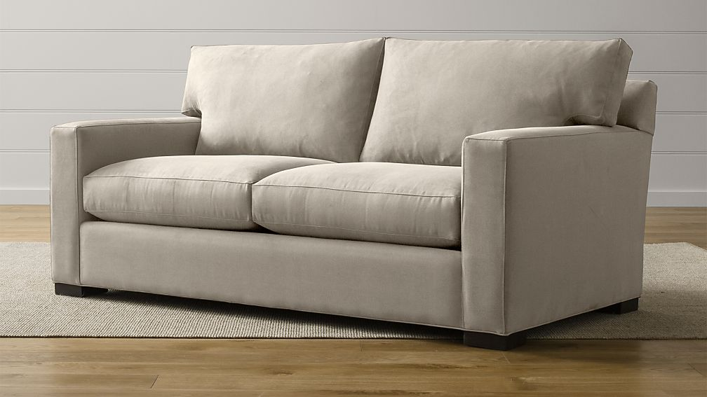 Axis II Brown Loveseat Apartment Sofa + Reviews   Crate and Barrel