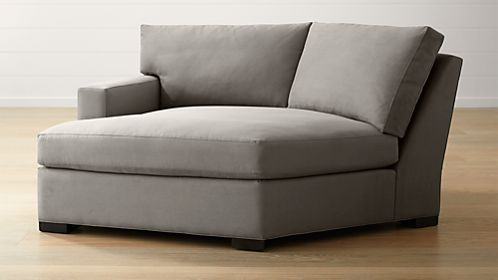 Chaise lounge sofas crate and barrel for Angled chaise lounge sofa